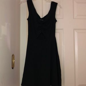 Abercrombie and Fitch black fit and flare dress